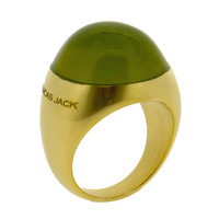 Lucas Jack Pebble Ring in Green and Gold