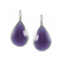 Lucas Jack Drop Earrings in Purple and Rhodium
