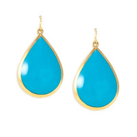 Lucas Jack Drop Earrings in Blue and Gold