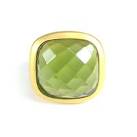 Lucas Jack Faceted Delilah Ring in Green