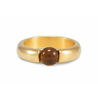 Lucas Jack Small Embedded Smoky Stone Ring