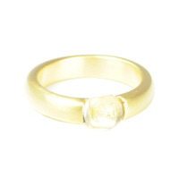 Lucas Jack Small Embedded Clear Stone Ring