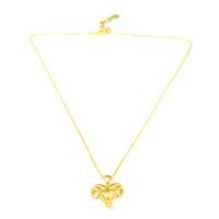 Lucas Jack Ram Head Necklace in Gold