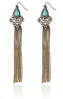 Samantha Wills Bohemian Bardot Shoulder Duster Earrings in Turquoise