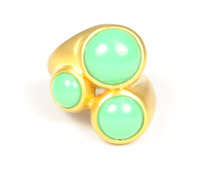 Lucas Jack Triple Round Ring in Mint Green