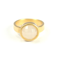 Lucas Jack Round Faceted Ring in Clear