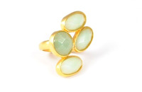 Lucas Jack Quad Gem Ring in Green Aventurine
