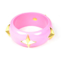 Lucas Jack Crosshairs Bangle in Neon Pink