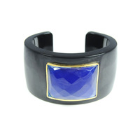 Lucas Jack Solid Cuff in Black and Electric Blue