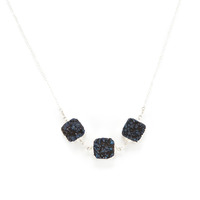 Robyn Rhodes Rocco Necklace in Blue and Silver