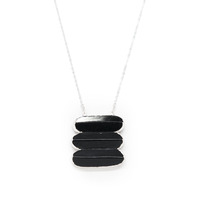 Robyn Rhodes Raylene Necklace in Black Jade and Silver