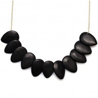 Robyn Rhodes Eboni Necklace in Black Jade and Silver