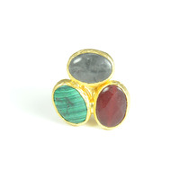 Urban Gem Arty Three Stones Ring