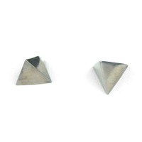 Urban Gem Pyramid Spike Earrings in Graphite