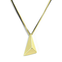Urban Gem Pyramid Two Chains Necklace in Gold
