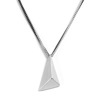 Urban Gem Pyramid Two Chains Necklace in Silver