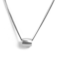 Urban Gem Bead Two Chains Necklace in Silver