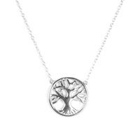 Urban Gem Oak Tree Necklace in Sterling Silver