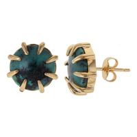 Isharya African Turquoise Claw Studs