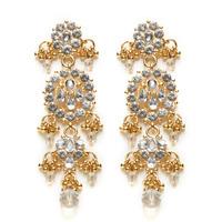 Isharya Clear Crystal Bling Maharani Earrings