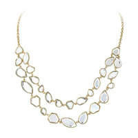 Isharya Mirror Gems Shattered Double Line Necklace