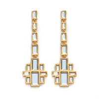 Isharya Mirror Gems Drop Earrings