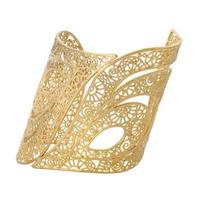 Isharya Gold Swirl Feather Filigree Cuff