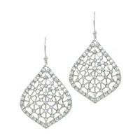 Urban Gem Webbed Pave Drop Earrings
