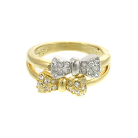 Urban Gem Pave Bows Ring