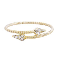 Urban Gem Pave Spike Cable Bangle in Gold