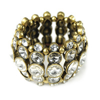 Urban Gem Crystal Tiers Stretchy Bracelet