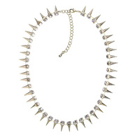 Urban Gem Spiked Interest Necklace in Gold