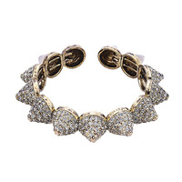 Urban Gem Pave Spike Bracelet in Gold