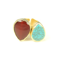 Urban Gem Arty Two Stones Ring