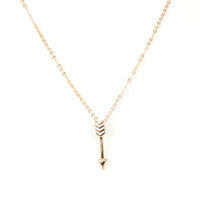 Urban Gem Don't Look Down Necklace in Rose Gold