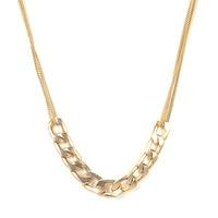 Urban Gem Chain Chain Chain Necklace in Gold