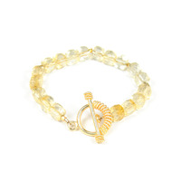 Margaret Elizabeth Puffed Faceted Bracelet in Citrine