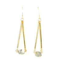 Salty Fox Jewelry Gold Bars Pyrite Earrings