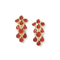 Isharya Watermelon Cascade Enamel Earrings