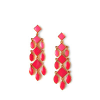 Isharya Pink Orange Minaret Shaded Enamel Earrings
