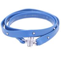 Urban Gem Tiny Studded Wrap Bracelet in Blue