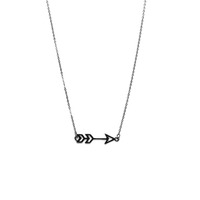 Urban Gem Sense of Direction Necklace in Hematite