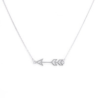 Urban Gem Sense of Direction Necklace in Silver
