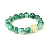 Urban Gem Play Ball Stretchy Bracelet in Jade