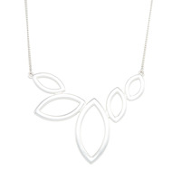 Urban Gem Marquise Hollows Necklace in Silver