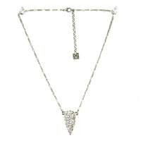 Viento Stilla Pendant in Rhodium