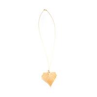 Charlene K Gilded Cotton Leaf Necklace