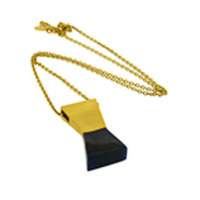 Lucas Jack Double Trapezoid Necklace in Lapis and Gold