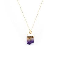 Charlene K Stalactite Slice Pendant Necklace