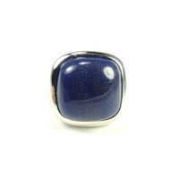 Lucas Jack Delilah Ring in Lapis and Rhodium